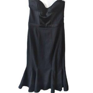 NWT bebe Black Bustier Corset Top Flare Dress Sz M